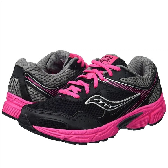7ae3ad55b3 Saucony Cohesion Running Shoe Black/ Pink NWT